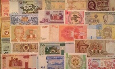 Assortment Of 21 X World Banknotes. All Different.