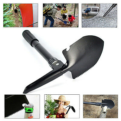 Outdoor Survival Folding Camp Shovel Military Compass Garden Tools