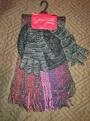 Jaclyn Smith Scarf Gloves & Hat Set 3 Piece - Brand New!