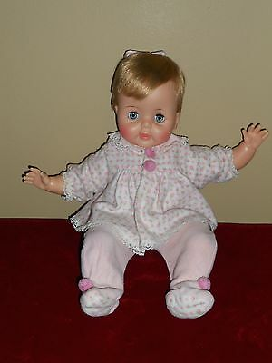 "Baby Snoozie Thumbelina 14"" Doll Ideal All Original Excellent Works"
