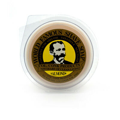 Col. Conk Almond Glycerin Shave Soap, Large
