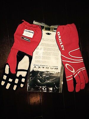 New Oakley Driving Racing Gloves - Red - XXL - 94055 - FIA Approved - Nomex
