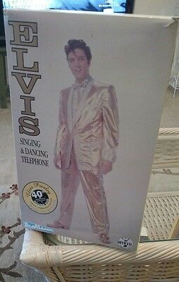Elvis Presley Singing and Dancing Telephone New In Box Telemania 1998 Hound Dog