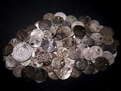 LOW GRADE OTTOMAN ISLAMIC SILVER COINS, 100 pcs
