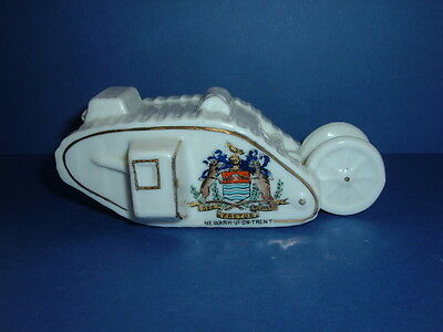 Vintage Shelley Crested Ware  Early Wwi British Tank - Newark-Upon-Trent