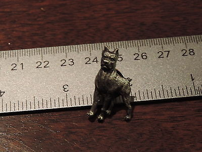 Dog Boxer Lapel Hat Pin 2C