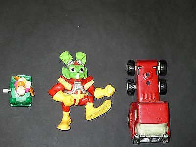 3 collectible kids toys – Coca Cola truck,Green Monster, Disney Burger King Toys