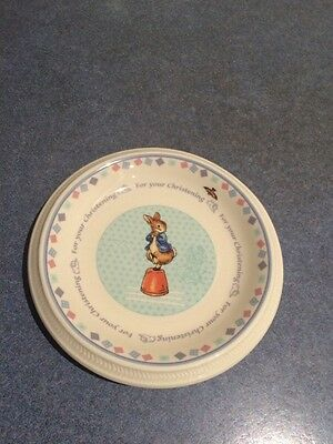 Peter Rabbit Christening Plate By Wedgewood PICK UP ONLY