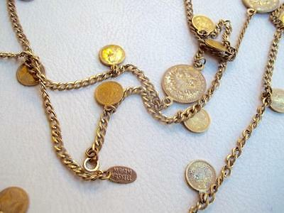 MIRIAM HASKELL Vintage Necklace Russian Gold Coins