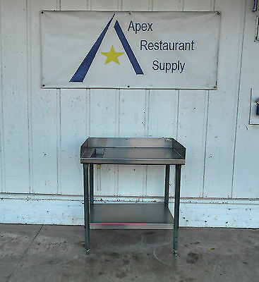 Stainless Steel Food Prep Table w/ Back and Side Splash #2035