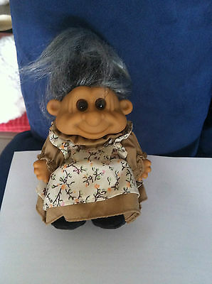 TROLL DOLL RUSS Berrie VINTAGE RARE GRANDMOTHER GRANDMA OLD TOY COLLECTABLE