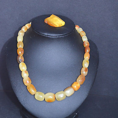 Vintage Baltic Necklace  Amber Jewelry Beads 23 gr