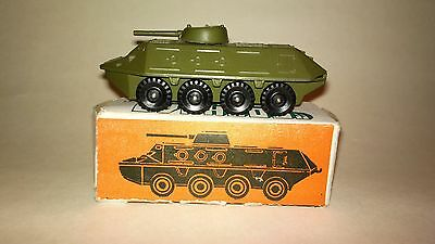 Vintage Original BTR 60 die cast Soviet Russian USSR military toy 1980`s MINT
