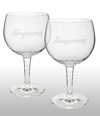 Tanqueray Gin Goblet Glasses x 2 New