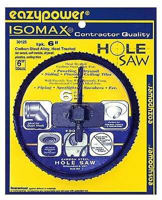 "Eazypower 6"" Hole Saw for Building Cornhole Boards 