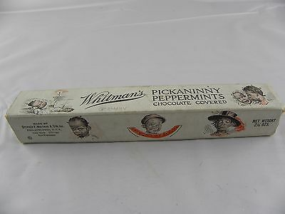 """Vtg. Whitman's Peppermint Picaninny Candy Box 7.25"""" by 1.25""""       G"""