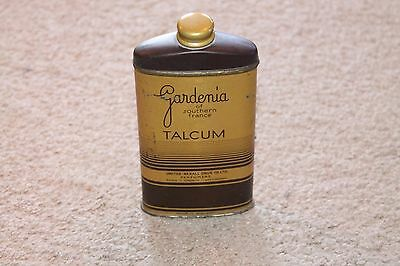 Vintage Powder Tin Gardenia of Southern France Talcum Powder Tin Full