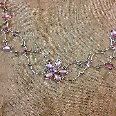 Silver Floral Choker Necklace By AVON Delicate Bridal Bridesmaid Jewellery