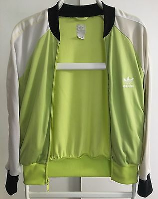 Adidas Vintage Jacket Green And White Woman's Jacket Sz. Medium