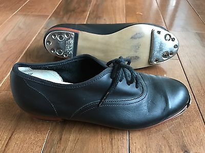 Women's Steven Stompers Black Clogging Shoes With Taps Installed Size 6.5