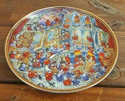 """HOLY CATS by BILL BELL collector plate 8"""" fine porcelain estate"""