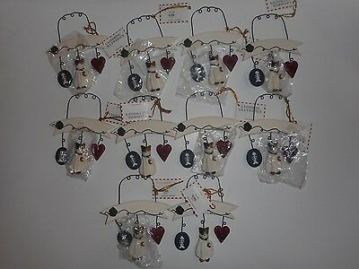 Lot of 10 Cat Christmas Ornaments New Catherine Lillywhites You can Personalize
