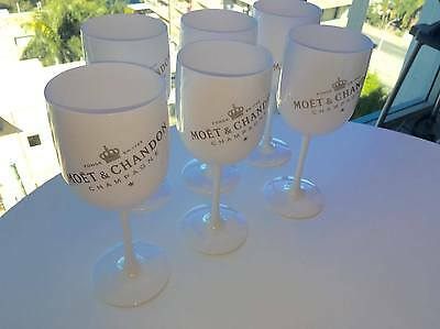 6X Moet Chandon Ice Imperial Champagne Glasses New ** Great For Parties