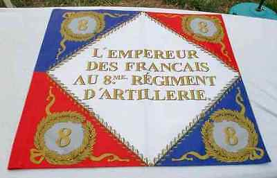 Napoleonic french flag 8 th artillery regiment famous at Austerlitz real size.