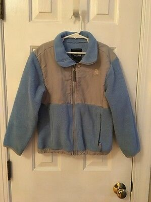 Girls THE NORTH FACE Blue/Gray Fleece Jacket SZ S