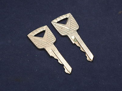 Vintage Lot of 2 Ford Door Trunk Car Key Made In USA