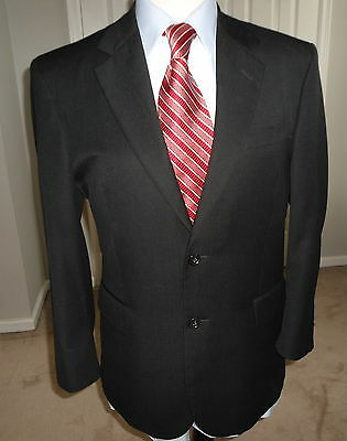 Jos. A  Bank  Signature  Collection  Dark  Blue  Striped  Wool  Mens  Suit  40 S