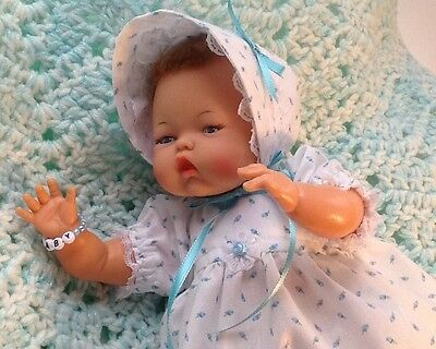 "Vintage 14"" Tiny Thumbelina Original Ideal Doll Clean and Works! So Adorable"