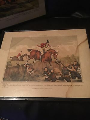"""Two """"Sporting Notions"""" Prints Engrave By H Alken 1833"""