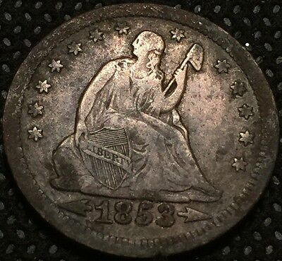 1853 Seated Quarter Arrow & Rays