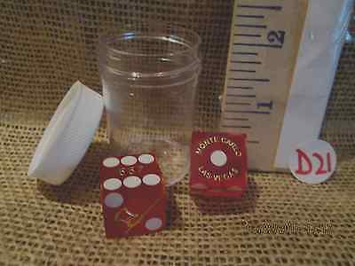 Geniune Red Monte Carlo Dice Marked 667 - D21