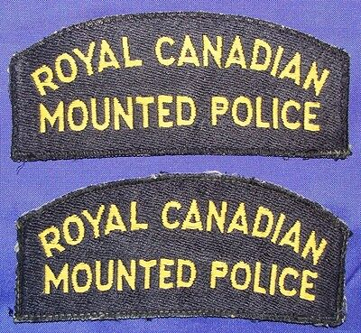 Canada rcmp shoulder flashes,obsolete flashes