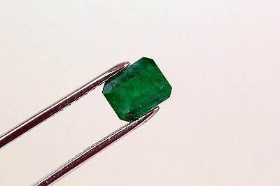 9 X 7mm 2.2 TCW Emerald Cut Natural Colombian Emerald Loose Gemstone