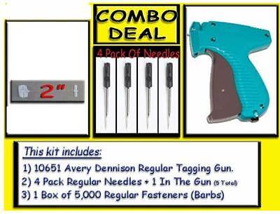 TOP OF THE LINE Avery Dennison Mark III Tag Gun, 5000 Free Barbs + 4 needles