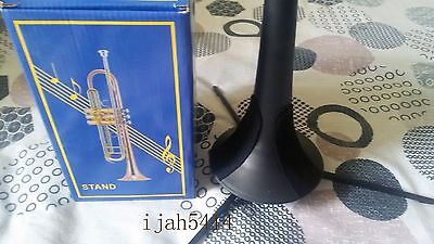 Trumpet Tripod Holder Stand with Detachable & Foldable Metal Leg Trumpet Parts