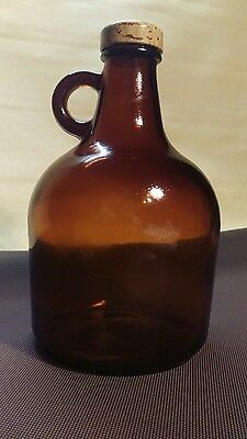 "8 1/2"" Brown Glass Jug 50.A.55"