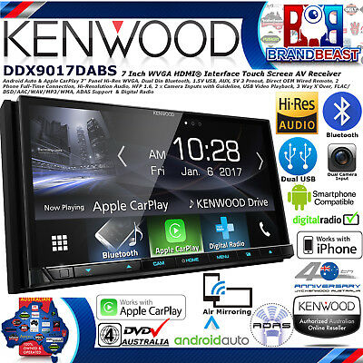 "New Kenwood Ddx9017dabs 7"" Apple Carplay Android Auto Dab+ Dvd Dual Usb Dual Bt"