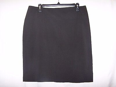 New York and Company Womens Size 12 Black Pencil Skirt EUC