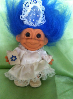 Troll Doll Russ Vintage Israel Jewish Bat Mitzvah Girl Toy Collectable