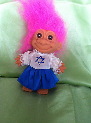 Troll Doll Russ Vintage Israel Jewish Girl Toy Collectable