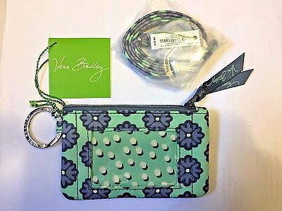 NWT VERA BRADLEY ZIP ID CASE AND LANYARD SET Nomadic Blossoms GIFT