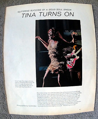 1970 Tina Turner-Revival Gospel Rock + Roll-Ike-Original Magazine Article W/Pics