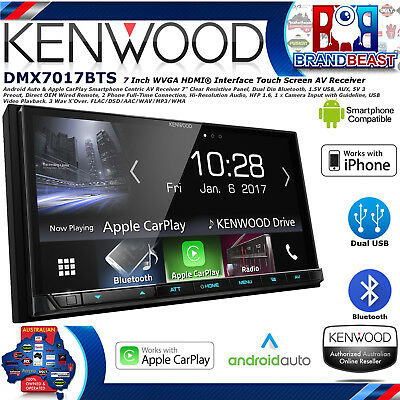 New Kenwood Dmx7017bts Apple Carplay Android Auto Dual Usb Dual Bluetooth Hi Res