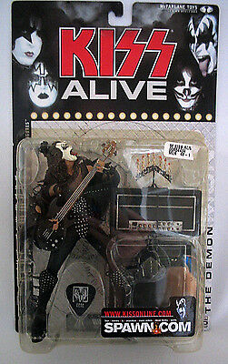 McFarlane Toys Kiss Alive Gene Simmons The Demon Figure w/Guitar, Amp, Pick