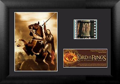 """LORD OF THE RINGS Return of the King FRAMED MOVIE PHOTO & FILM CELL 5"""" x 7"""" New"""