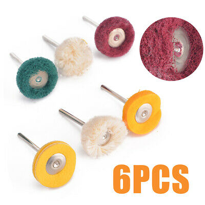 6pcs Polishing Mop Buffing Wheel Polish Pad Polishers Kit For Rotary Drill Bit